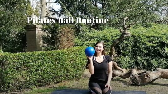 Pilates ball routine