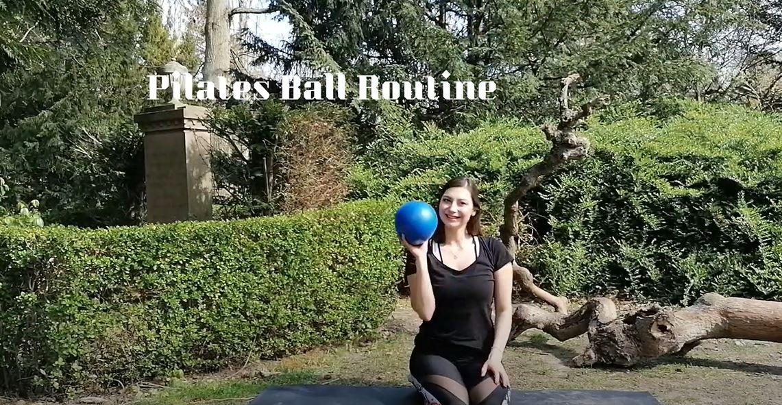 Pilates ball routine